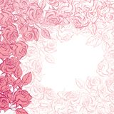 Floral background with pink roses. Vector Royalty Free Stock Photo