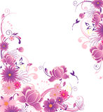 Floral background with pink and violet flowers Royalty Free Stock Image