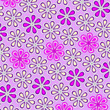 Floral background. Pink and yellow floral background stock illustration