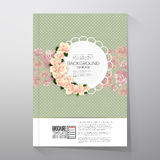 Floral background with place for text and pink Stock Photo