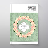 Floral background with place for text and pink Stock Image