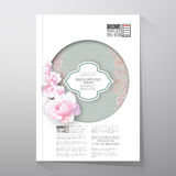 Floral background with place for text and pink Royalty Free Stock Photo