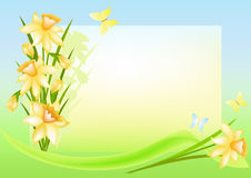 Floral background with place for your text. Stock Image