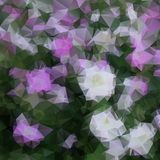 Floral background polygon Royalty Free Stock Photo