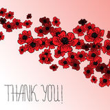 Floral background with poppies and hand lettering Royalty Free Stock Photography