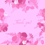 Floral background poppy and cosmos strawberries  illustration Royalty Free Stock Photo