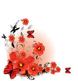 Floral background red Royalty Free Stock Image