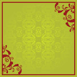 Floral frame. Floral background with a red border Royalty Free Stock Photos