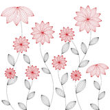 Floral background - , red flower Stock Images