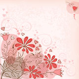 Floral background. Red Stock Photos