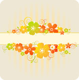 Floral background with red and orange flowers Royalty Free Stock Photography
