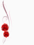 Floral background with red roses design element. Stock Image