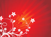 Floral background red vector Royalty Free Stock Photo