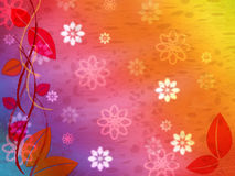 Floral Background Represents Multicolored Color And Colourful Royalty Free Stock Photos