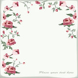 Floral background. Retro floral background with roses Stock Photography