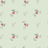 Floral background. Retro seamless floral background with beautiful roses Stock Photo