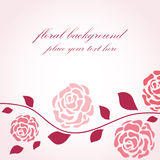 Floral background in retro style Stock Photo