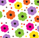 Floral background in retro style Stock Photos