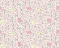 Floral background. Retro style. Stock Images