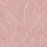 Floral background in retro style with leaves. Leaf seamless back Stock Image