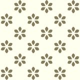 Floral background in retro style. Seamless  floral background. Abstract pattern. Ornament with stylized flowers. Can be used for textile production, fabric Stock Image