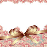 Floral background with ribbon Royalty Free Stock Photography