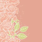 Floral background with rose in pastel tones Royalty Free Stock Image