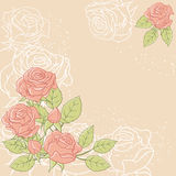 Floral background with rose in pastel tones Stock Photo