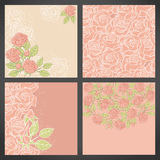 Floral background with rose in pastel tones Stock Photos