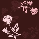 Floral background with rose in pastel tones Royalty Free Stock Photos