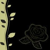 Floral background with rose, vector illustration Stock Photography