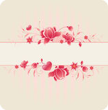 Floral background with roses Royalty Free Stock Photography