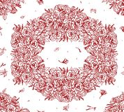 Floral background with roses Stock Photos