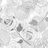 Floral background with roses. Vector seamless Royalty Free Stock Photo