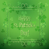 Floral background for saint patrick`s day - green vector Stock Image