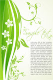 Floral background with sample text Stock Images