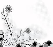 Floral monochrome background. Royalty Free Stock Photography