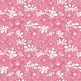 Floral background. Seamless pattern with bee and flower in doodl stock photography
