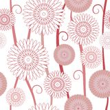 Floral background Seamless Pattern. In pink and beige tones Royalty Free Stock Photos