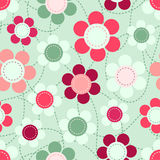 Floral background seamless pattern. Vector illustration EPS8 Royalty Free Stock Photos