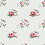Floral background. Seamless floral background with retro roses Royalty Free Stock Photography