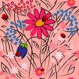 Floral background.seamless texture vector illustration