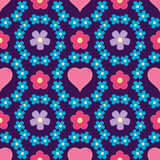 Floral background, seamless vector floral pattern Royalty Free Stock Photo
