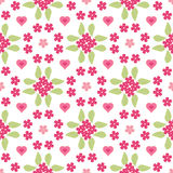Floral background, seamless vector floral pattern Stock Images