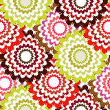 Floral background, seamless vector floral pattern Stock Photo