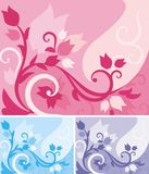 Floral Background Series. Vector background with floral ornaments stock illustration