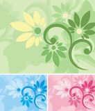 Floral Background Series. Vector background with floral ornaments vector illustration