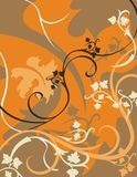 Floral Background Series. Vector background with floral ornaments royalty free illustration