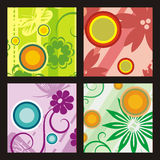 Floral background series Royalty Free Stock Photos