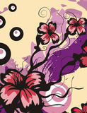 Floral background series Royalty Free Stock Image